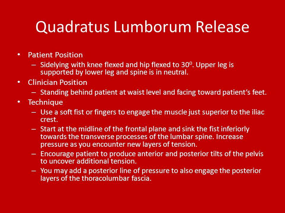 Quadratus Lumborum Release