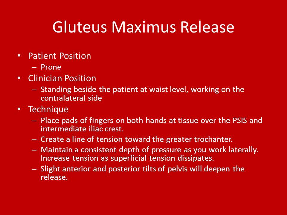 Gluteus Maximus Release