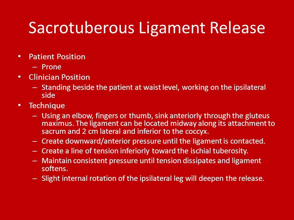 Sacrotuberous Ligament Release