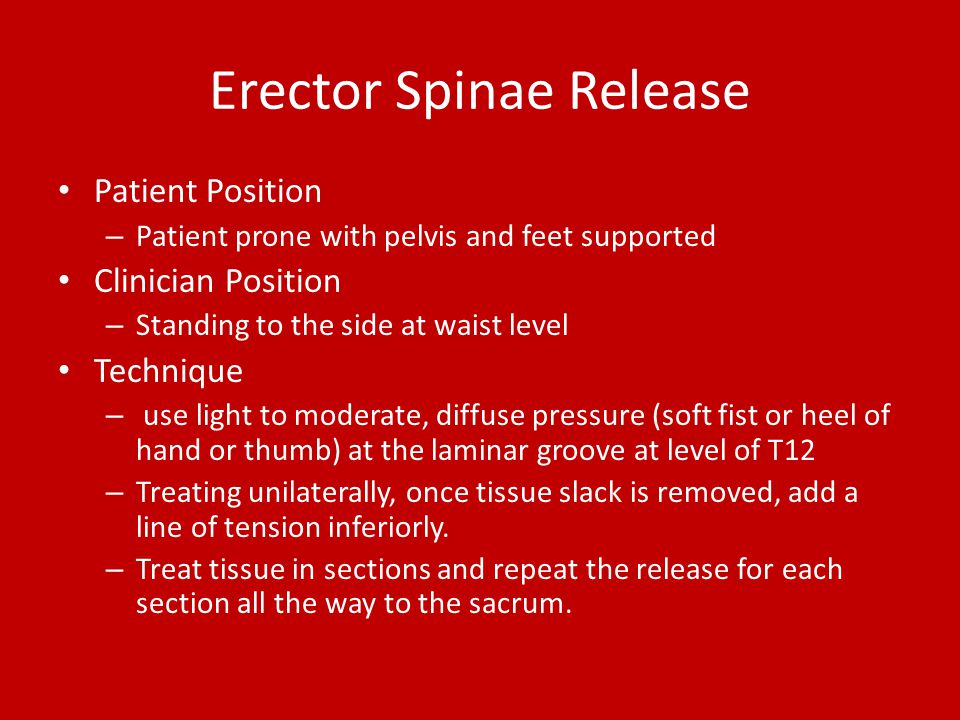 Erector Spinae Release