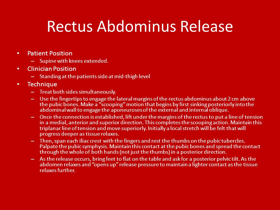 Rectus Abdominus Release