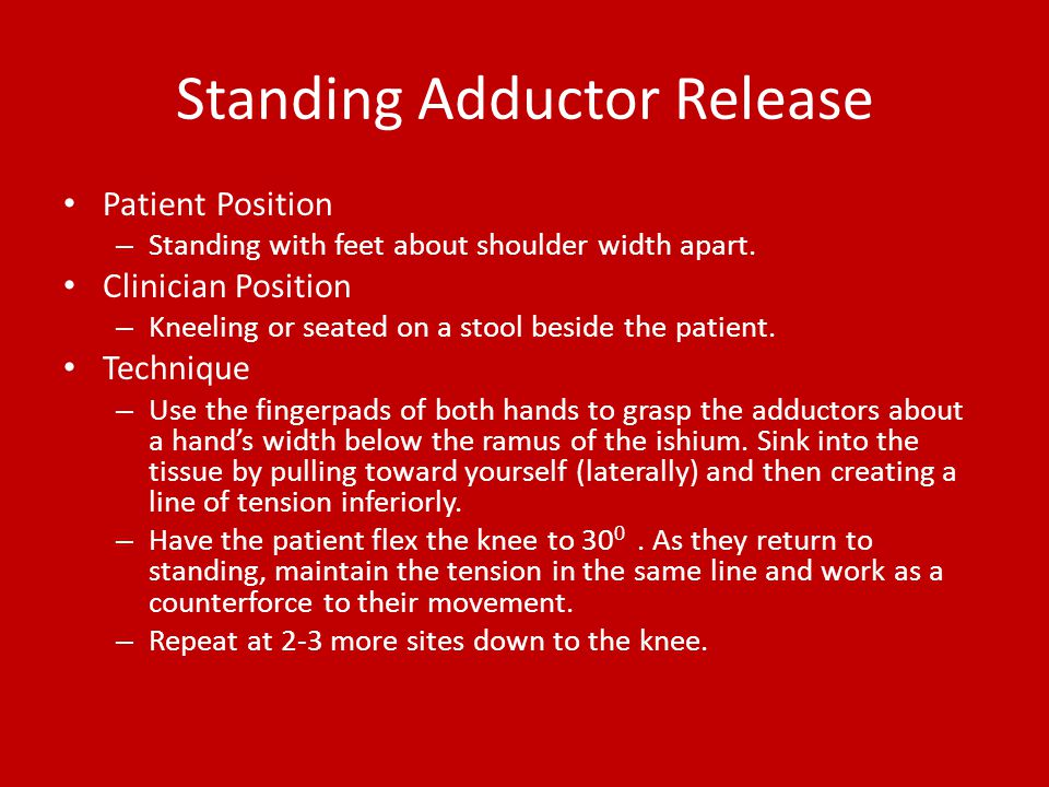 Standing Adductor Release