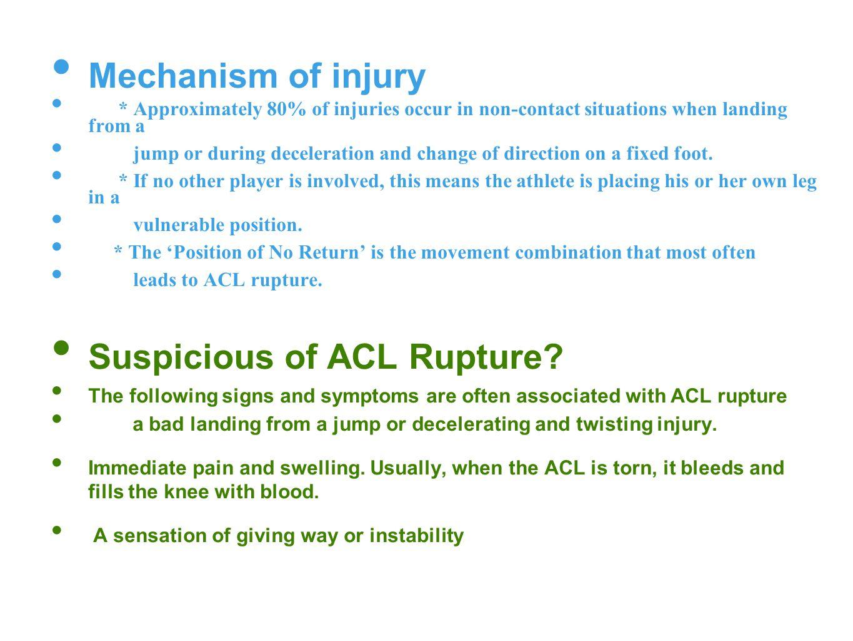 Suspicious of ACL Rupture