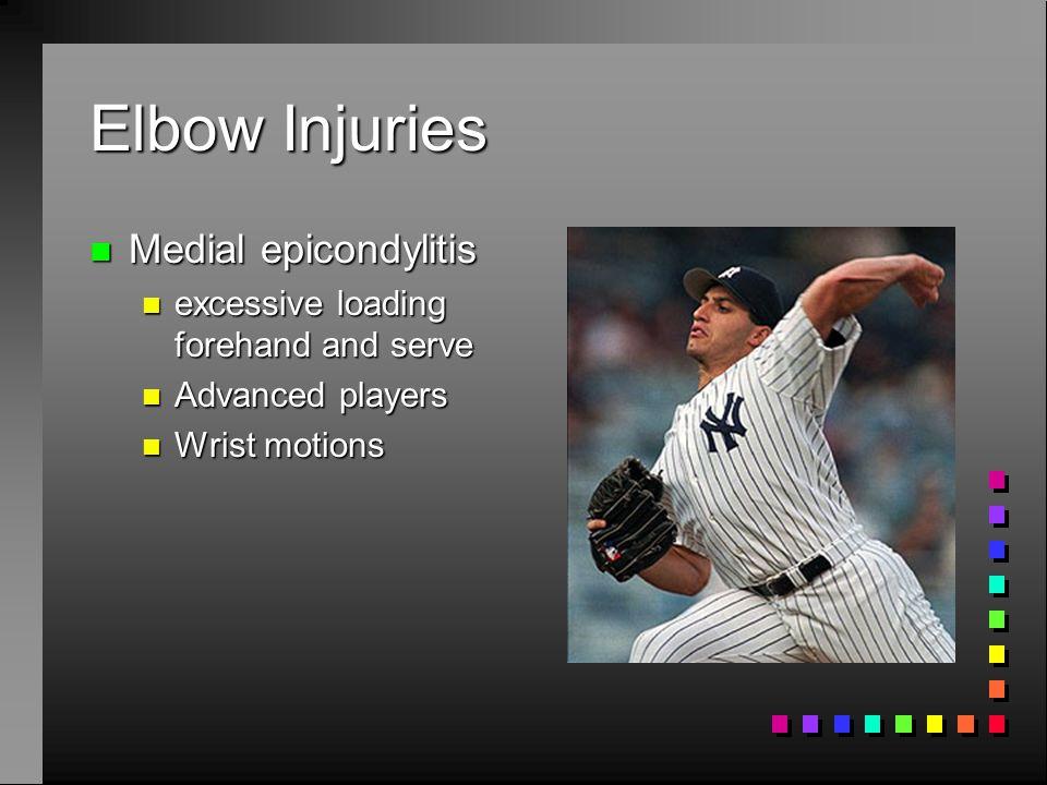 Elbow Injuries Medial epicondylitis