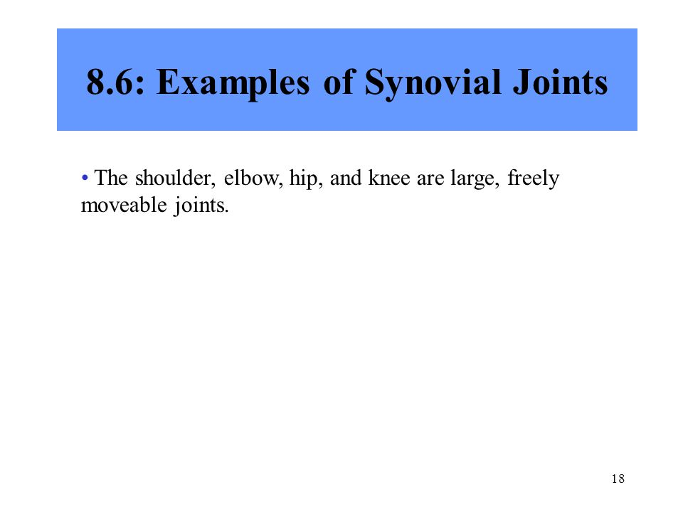 8.6: Examples of Synovial Joints