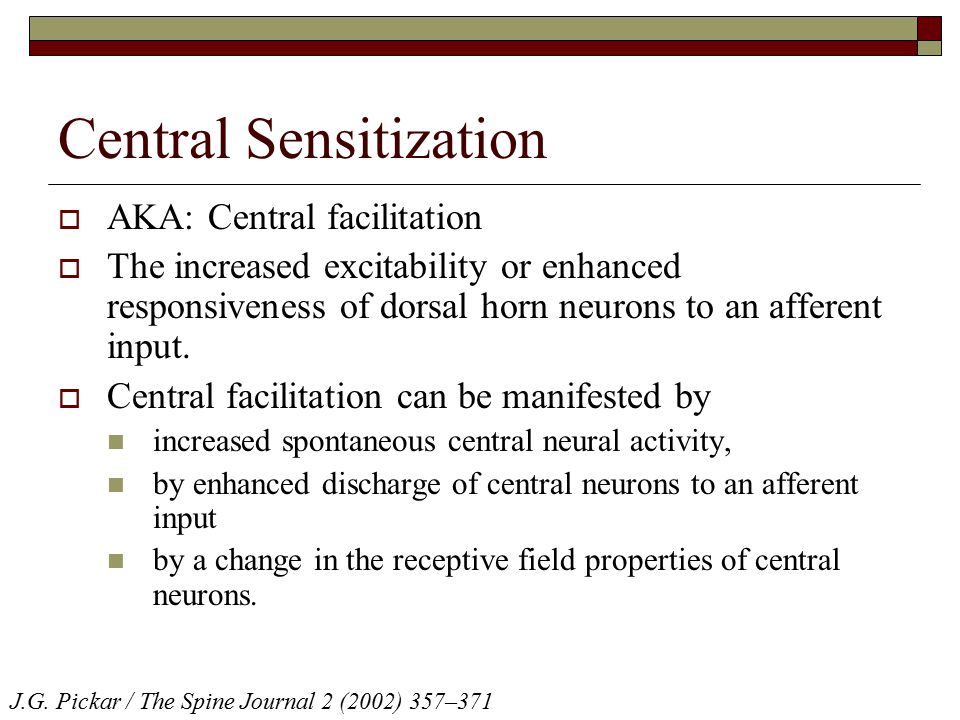 Central Sensitization