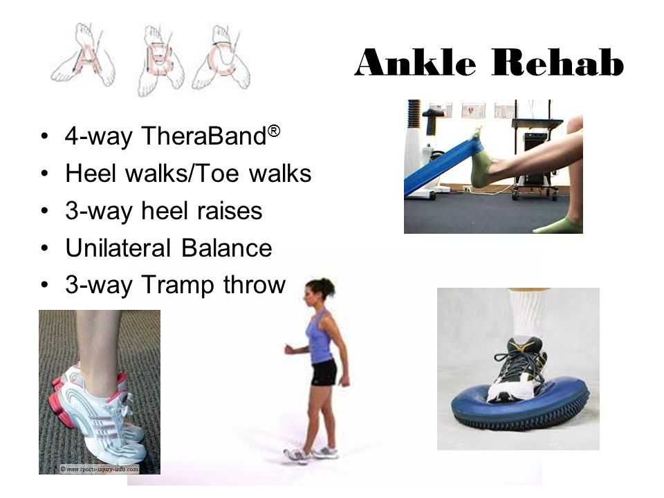 Ankle Rehab 4-way TheraBand® Heel walks/Toe walks 3-way heel raises