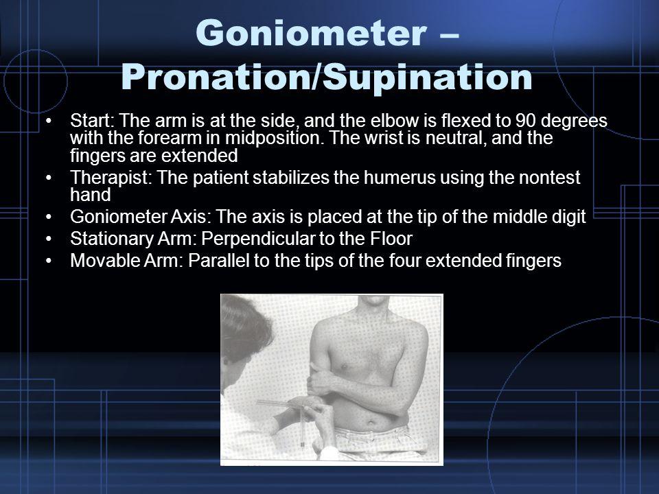 Goniometer – Pronation/Supination