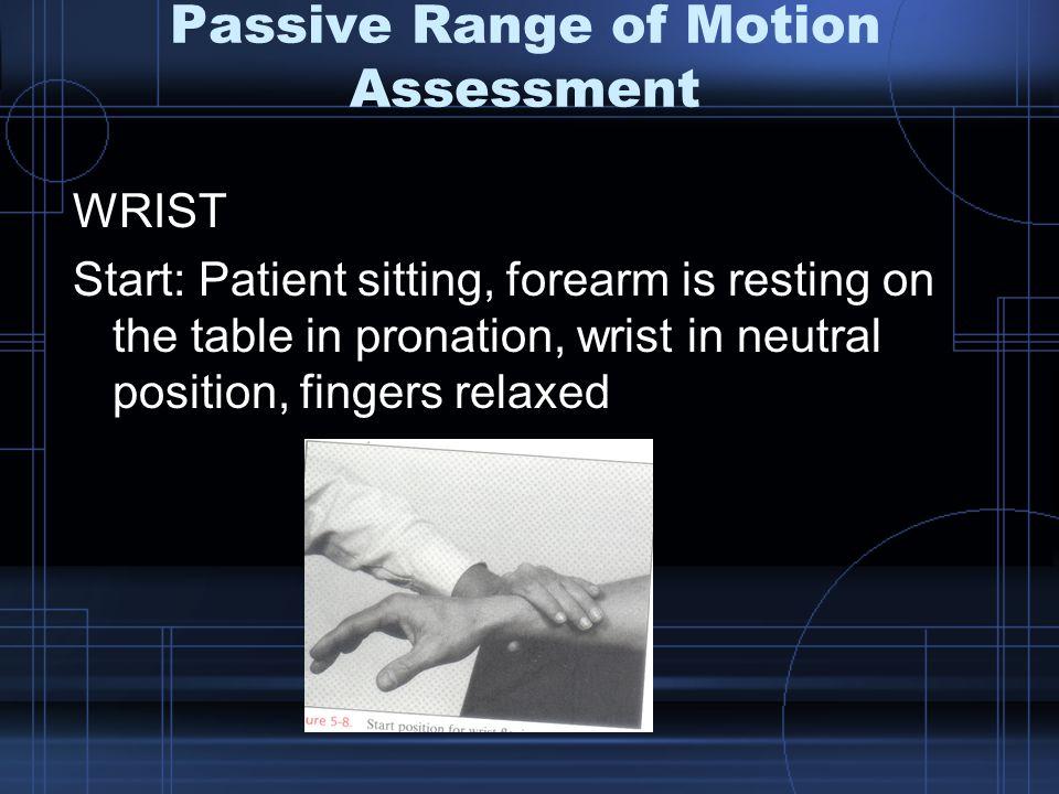 Passive Range of Motion Assessment