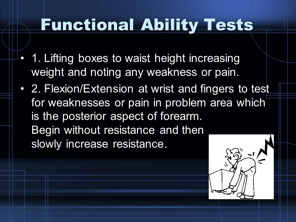 Functional Ability Tests