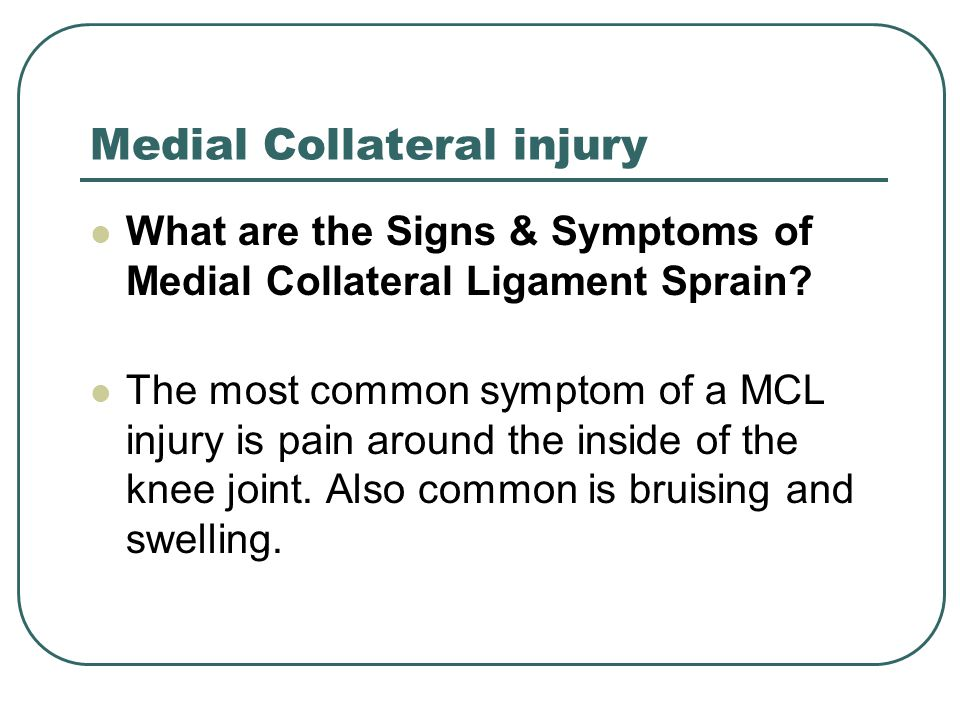 Medial Collateral injury