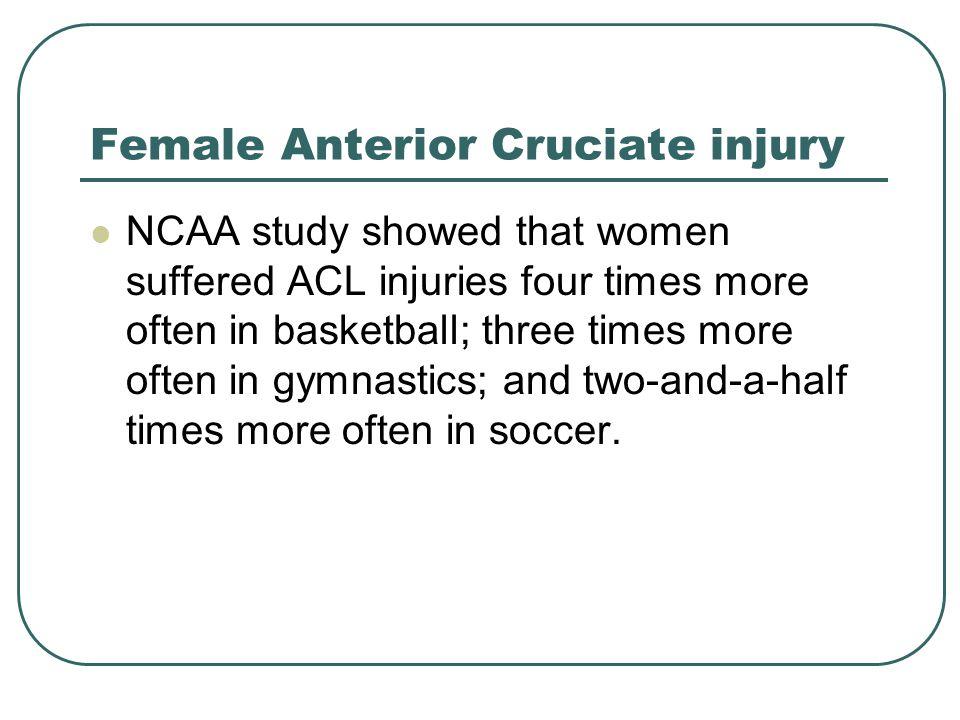 Female Anterior Cruciate injury
