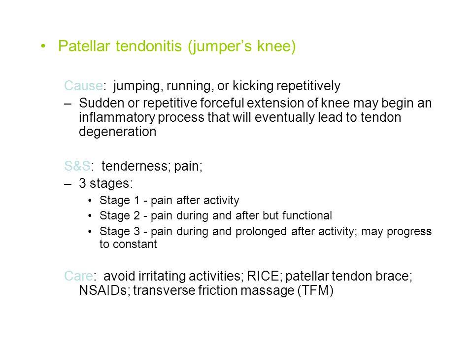 Patellar tendonitis (jumper's knee)