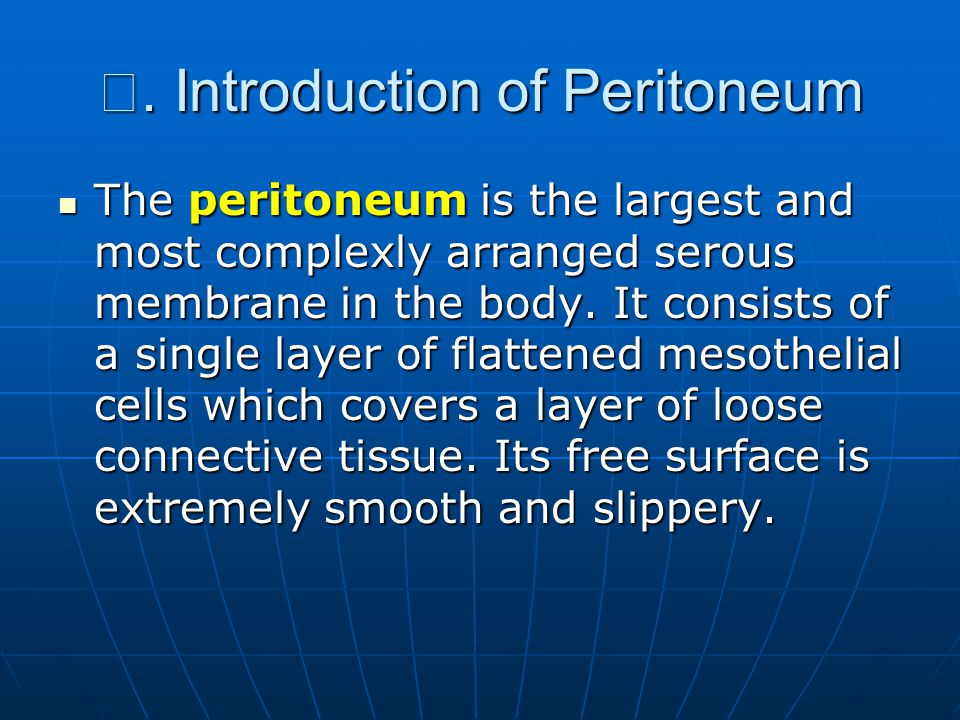 Ⅰ. Introduction of Peritoneum