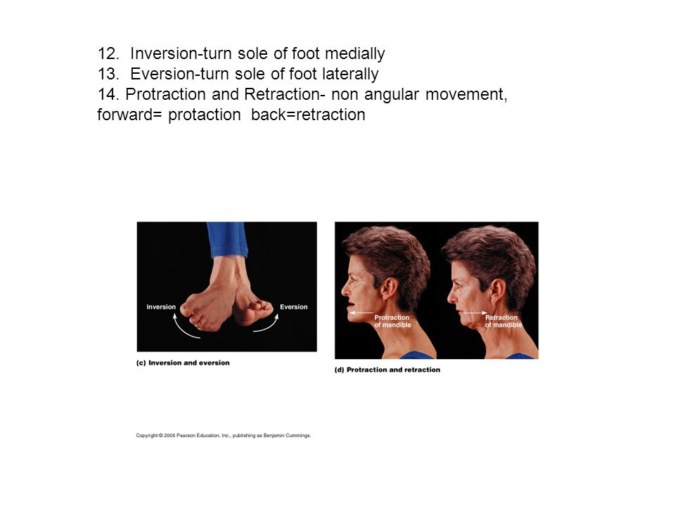 12. Inversion-turn sole of foot medially