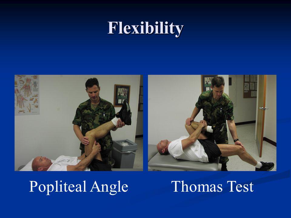 Flexibility Popliteal Angle Thomas Test