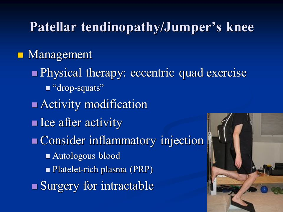 Patellar tendinopathy/Jumper's knee