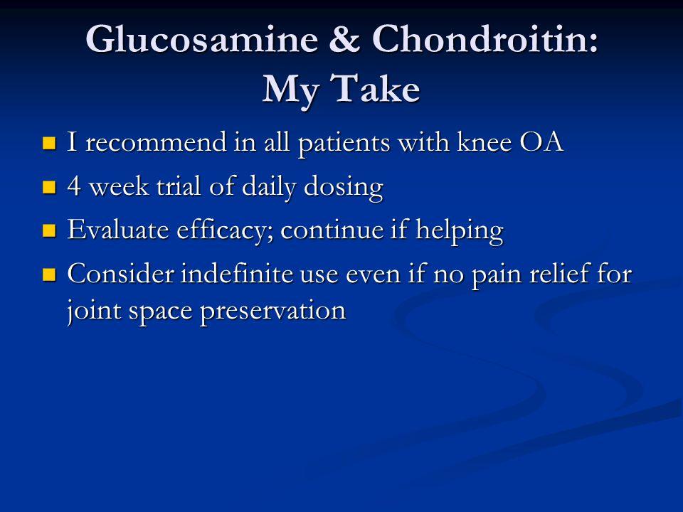 Glucosamine & Chondroitin: My Take