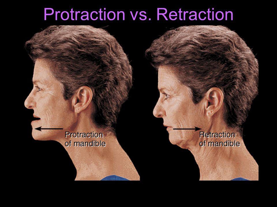 Protraction vs. Retraction