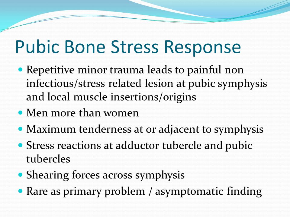 Pubic Bone Stress Response