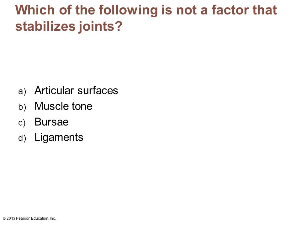 Which of the following is not a factor that stabilizes joints