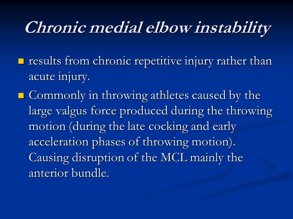 Chronic medial elbow instability