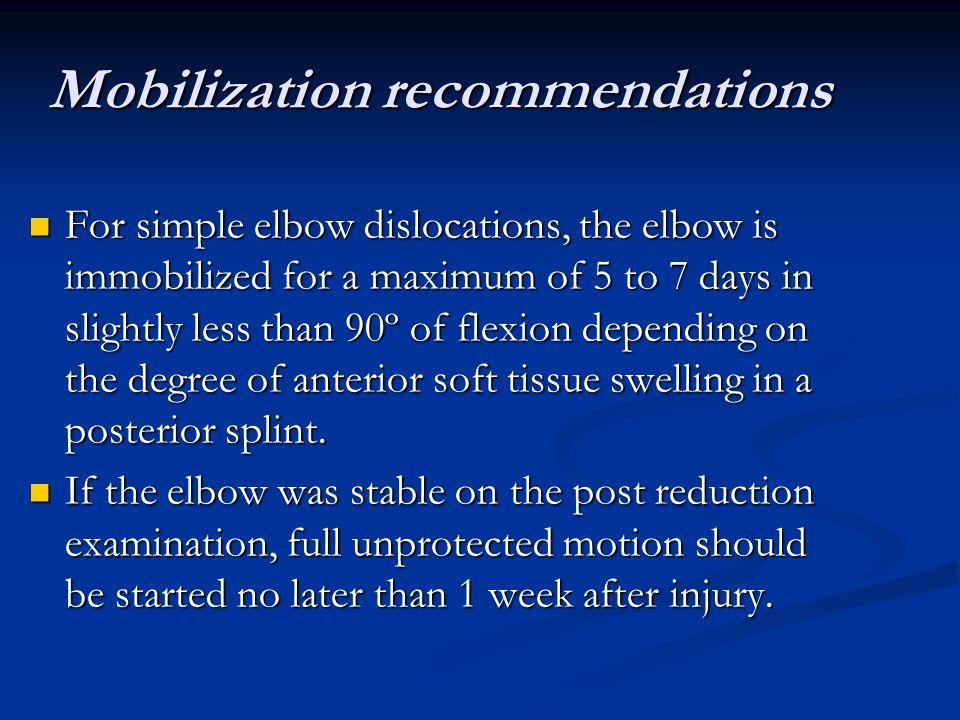 Mobilization recommendations