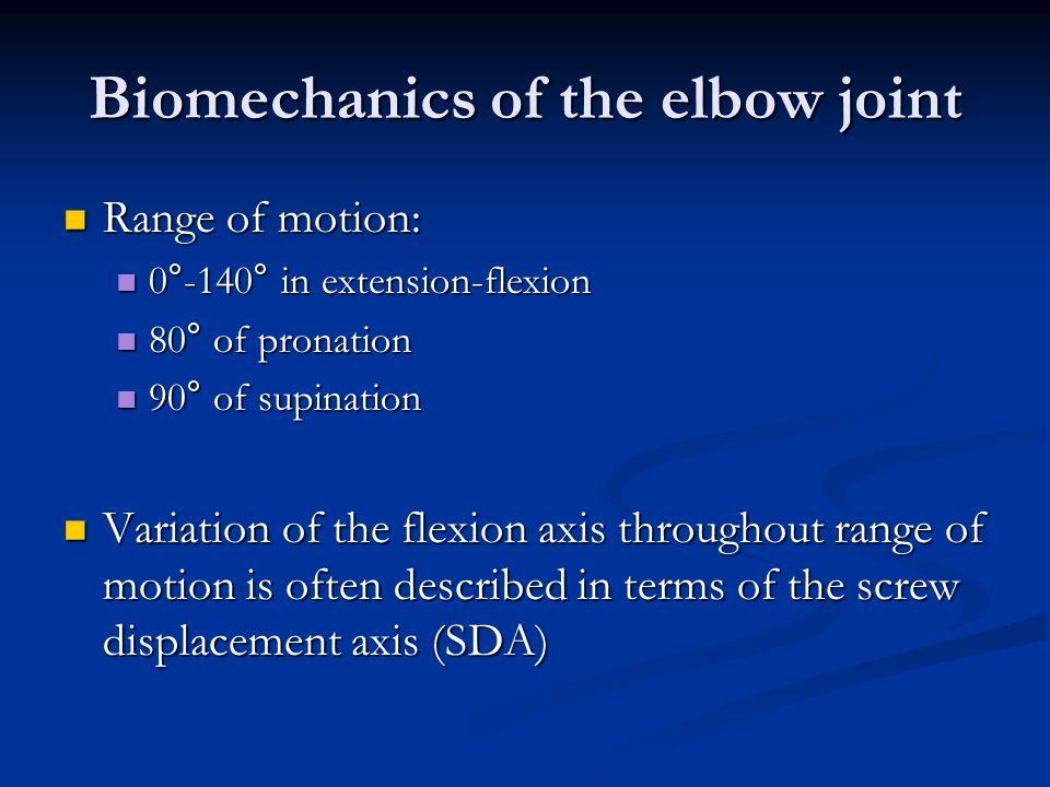 Biomechanics of the elbow joint
