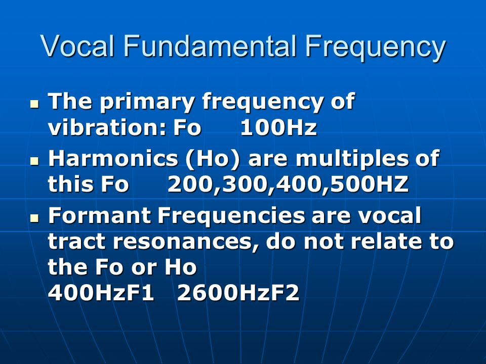 Vocal Fundamental Frequency
