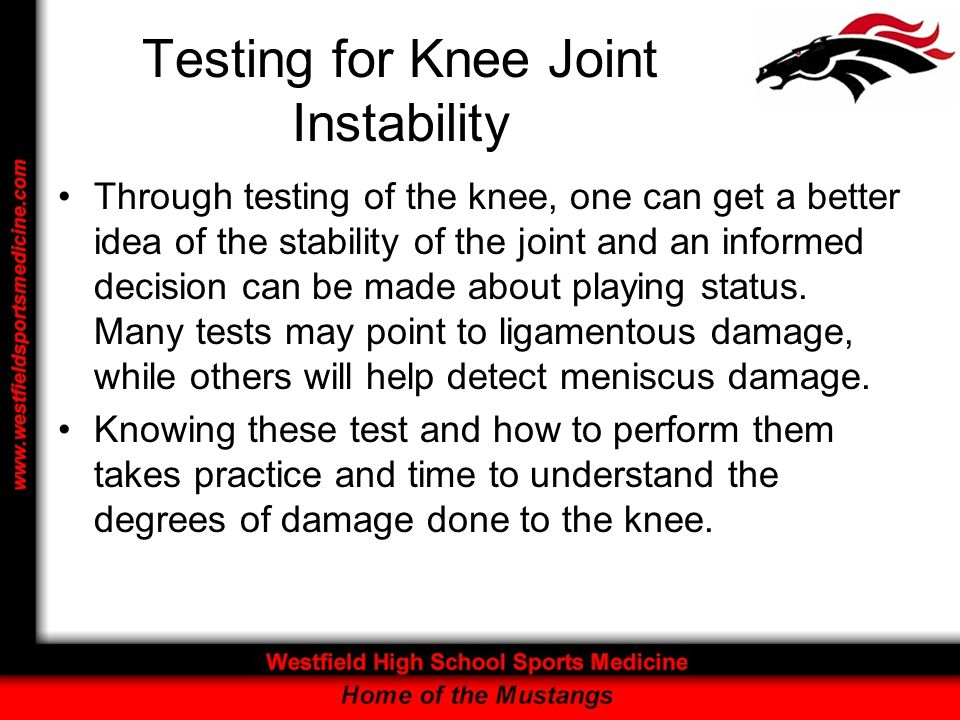 Testing for Knee Joint Instability