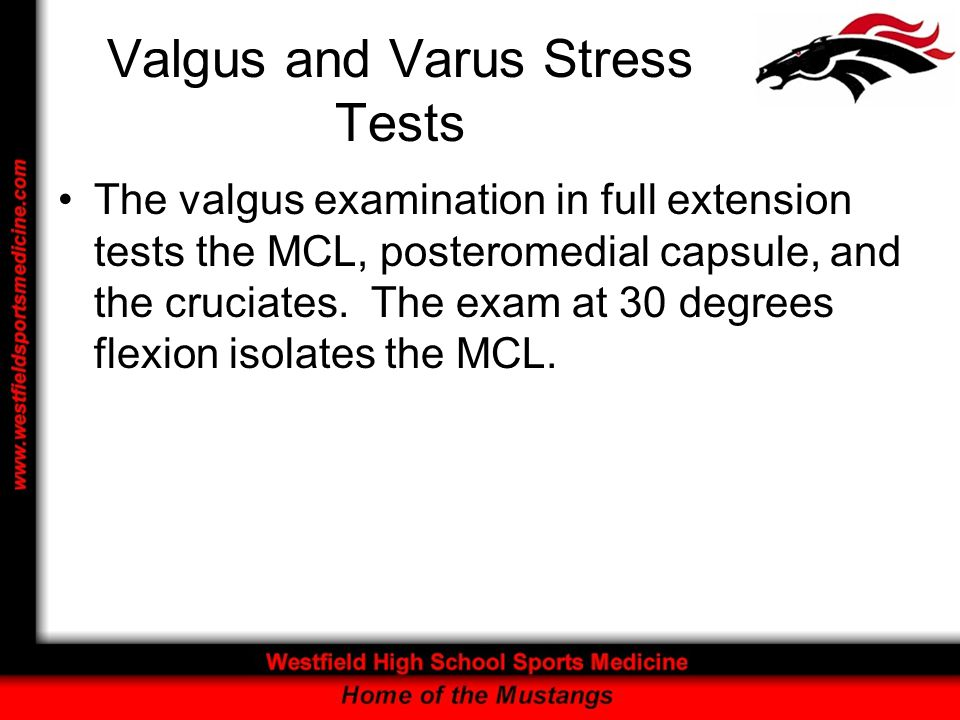 Valgus and Varus Stress Tests