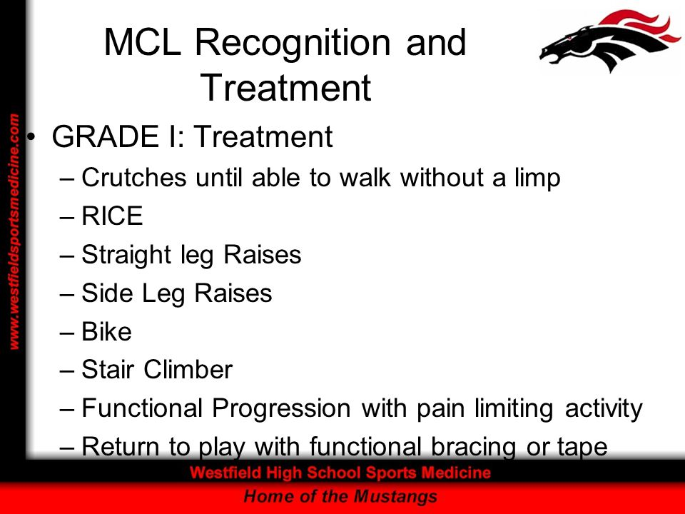 MCL Recognition and Treatment