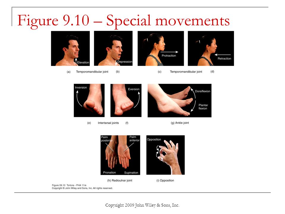 Figure 9.10 – Special movements