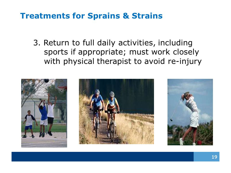 Treatments for Sprains & Strains