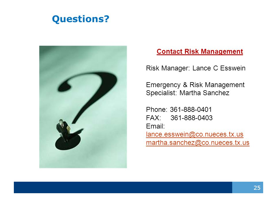 Contact Risk Management
