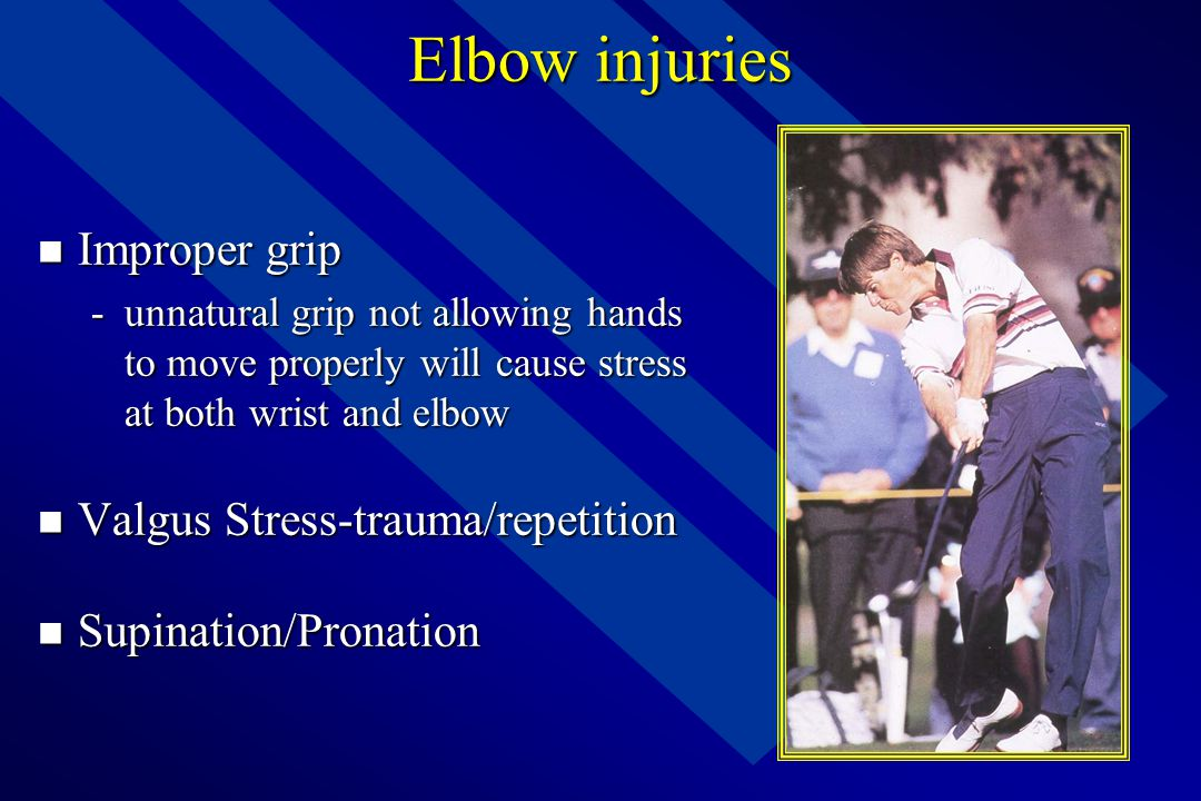Elbow injuries Improper grip Valgus Stress-trauma/repetition