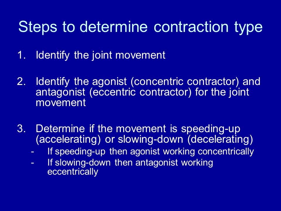 Steps to determine contraction type