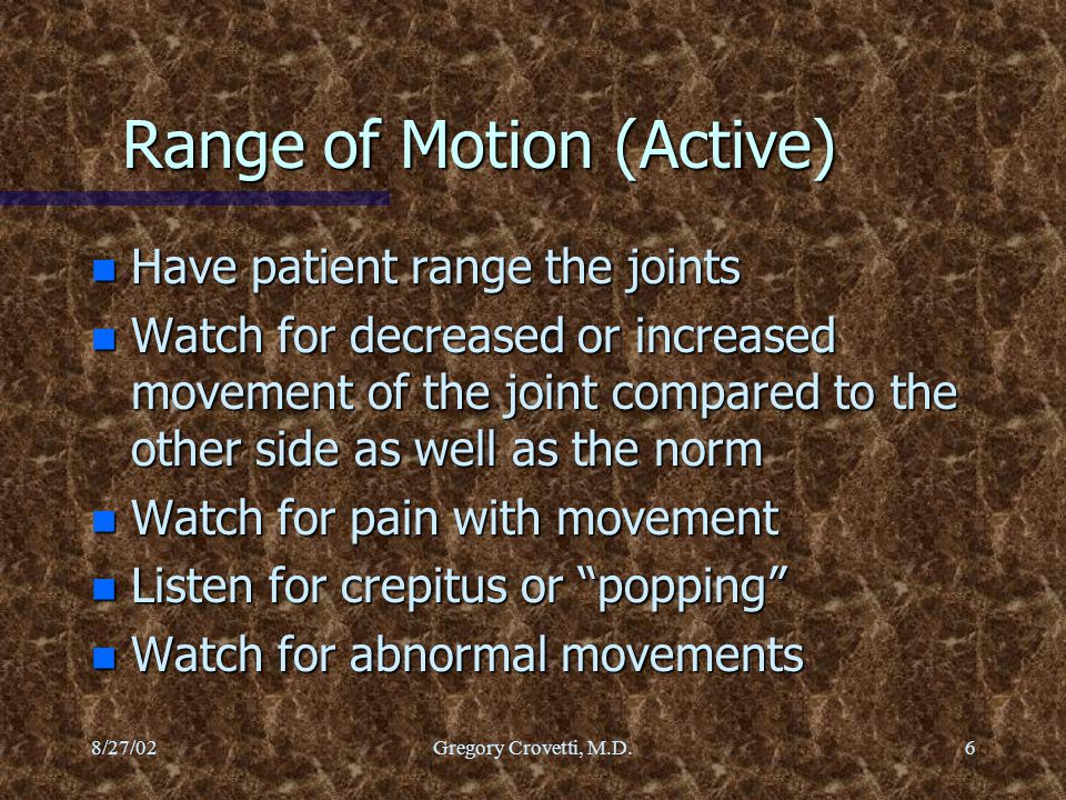 Range of Motion (Active)