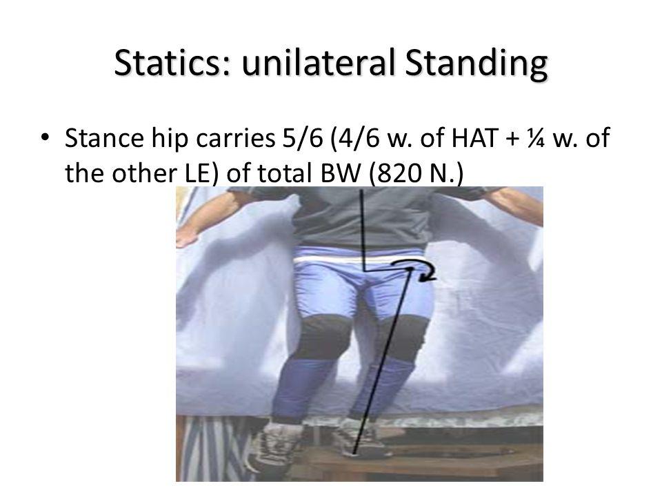 Statics: unilateral Standing