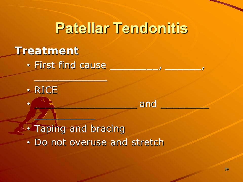 Patellar Tendonitis Treatment