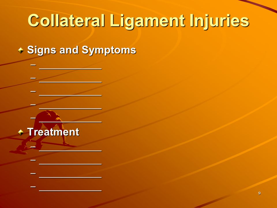 Collateral Ligament Injuries