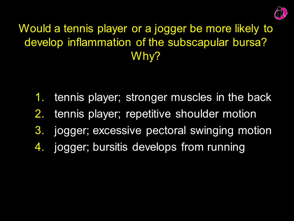 tennis player; stronger muscles in the back