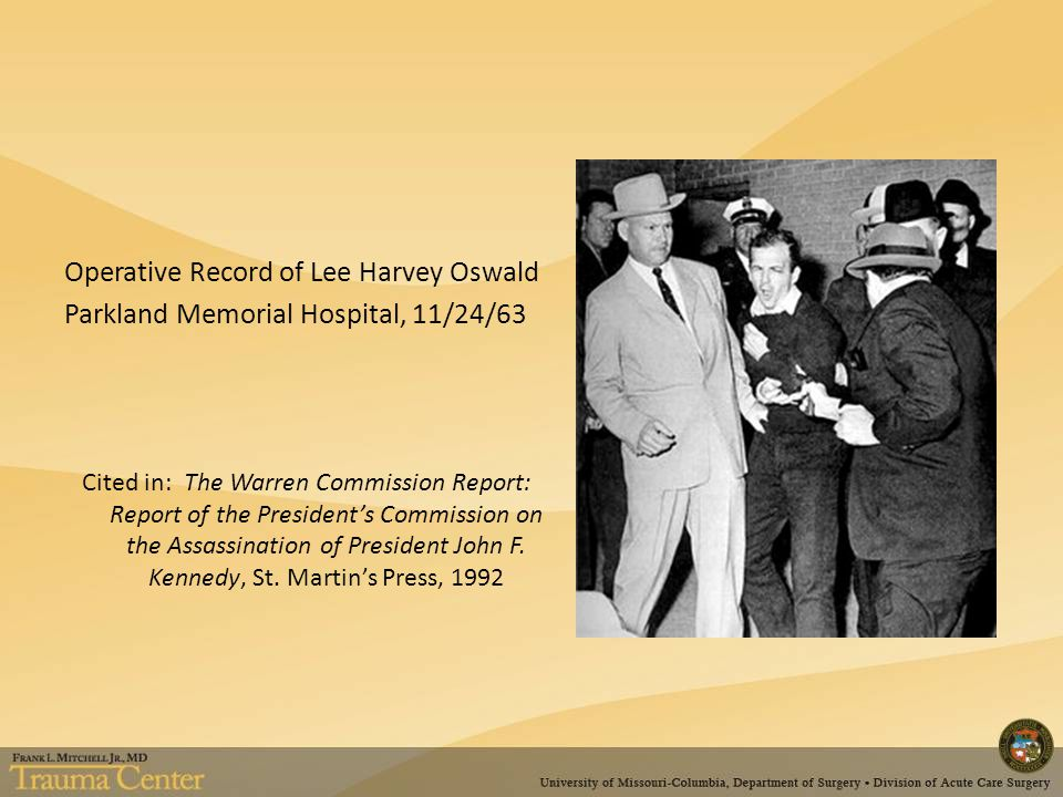 Operative Record of Lee Harvey Oswald