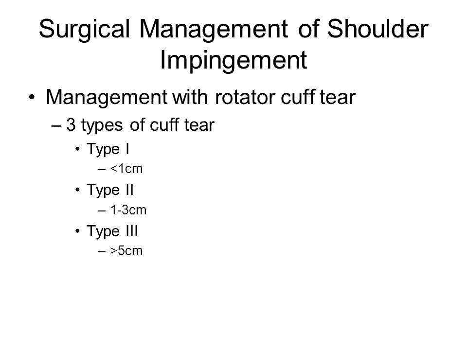 Surgical Management of Shoulder Impingement