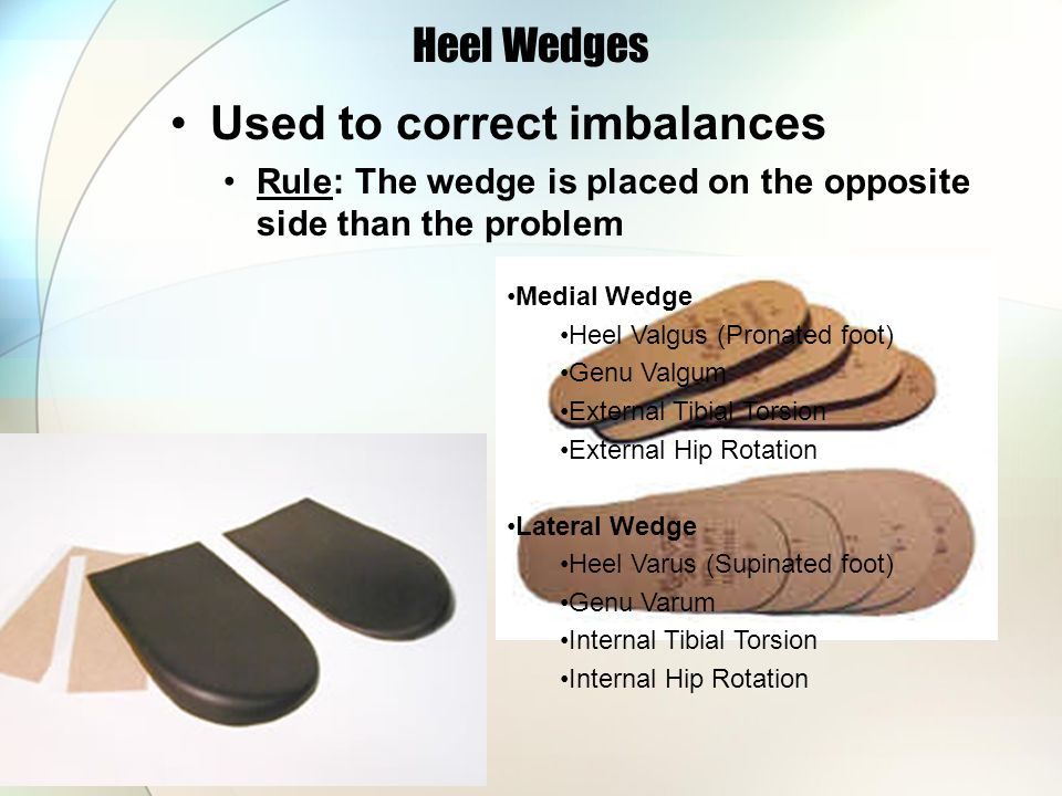 Used to correct imbalances