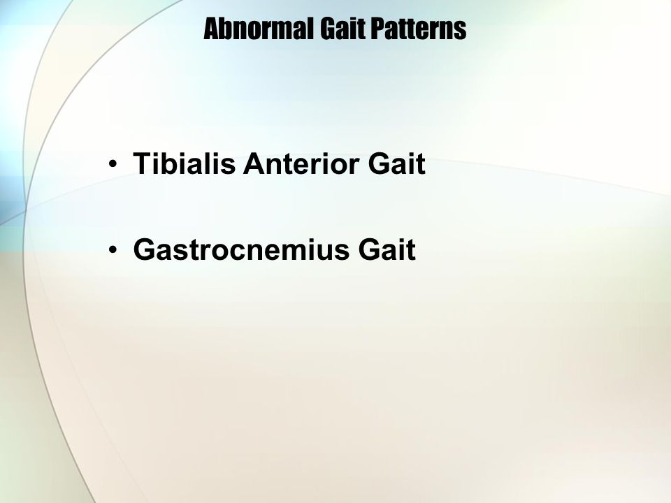 Abnormal Gait Patterns