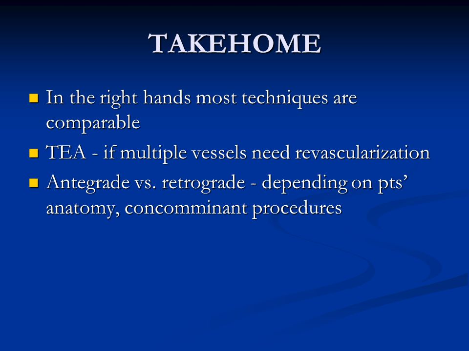 TAKEHOME In the right hands most techniques are comparable