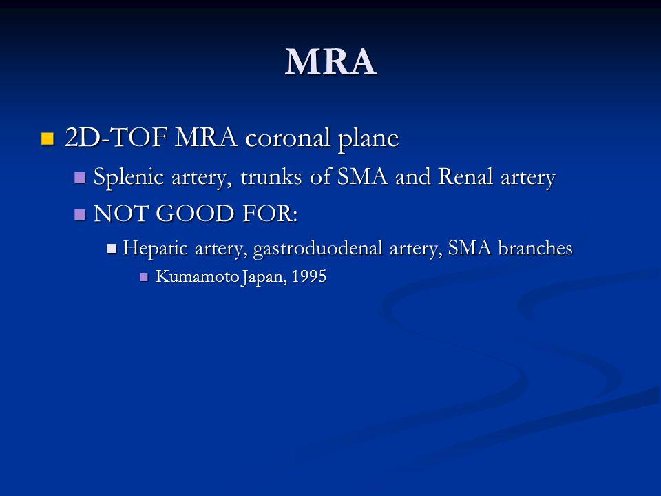 MRA 2D-TOF MRA coronal plane
