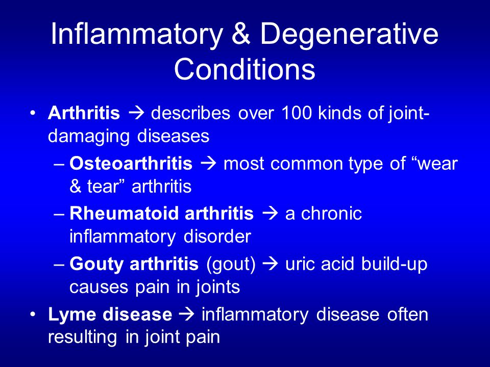 Inflammatory & Degenerative Conditions