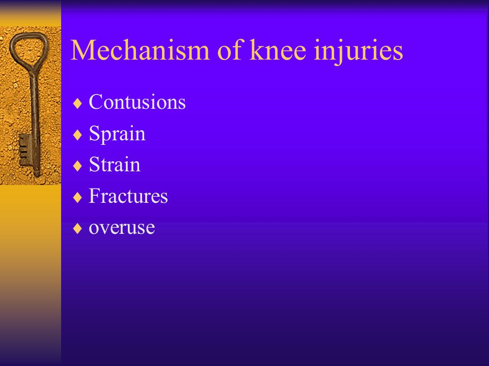 Mechanism of knee injuries